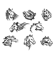 Horse head tribal tattoos vector image vector image