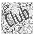 How Much Do Car Clubs Cost Word Cloud Concept vector image vector image