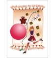 Kids Room childhood many toys big doll ball bright vector image
