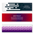 modern abstract banner set cool gradient shapes vector image vector image