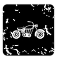 Motorcycle icon grunge style vector image