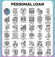 personal loan icons vector image