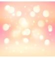 Pink bokeh light effect shining background vector image