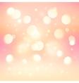 Pink bokeh light effect shining background vector image
