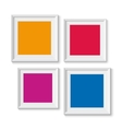 realistic picture frames options banners vector image vector image