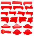 Red Ribbons Banners collection vector image