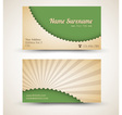 retro business card vector image vector image