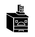 russian oven icon black sign vector image vector image