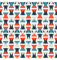 seamless colorful abstract orange and blue pattern vector image vector image