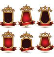 Set of geometric glamorous golden elements vector image vector image