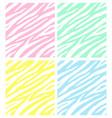 set seamless pastel zebra print pattern vector image vector image
