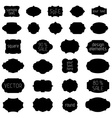 Simple monochrome geometric vintage badges and vector image