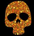 skull pattern circles vector image vector image