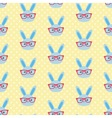 Smart bunny pattern vector image