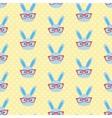Smart bunny pattern vector image