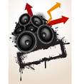 Speakers grunge vector image vector image