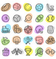 sports trendy new icon set eps vector image vector image