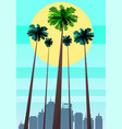 summer beatiful sunset backgrounds with palms vector image vector image
