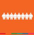 sumo wrestling people icon design vector image