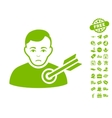 Target Man Icon With Free Bonus vector image vector image