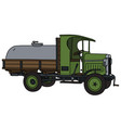 the vintage tank truck vector image