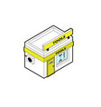 toolshop building in isometric projection vector image vector image