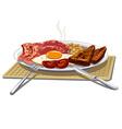 traditional english breakfast vector image vector image