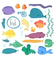 Tropical fish collection isolated vector image vector image