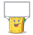 up board sponge cartoon character funny vector image vector image