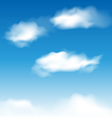 Wallpaper blue sky with realistic clouds vector image vector image