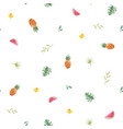watercolor tropical pineapple pattern vector image vector image