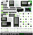 web design elements vector image vector image