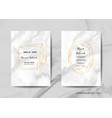 wedding invitation cards collection save the date vector image vector image