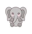 elephant kawaii cute animal icon vector image