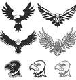 Set of eagles Design elements for logo label vector image