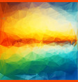 abstract sunset colorful geometric background vector image vector image