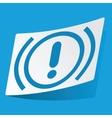 Alert sticker vector image vector image