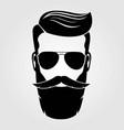 Bearded men hipster face