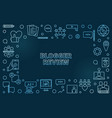 blogger review blue concept linear vector image vector image