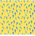 blue bird seamless wallpaper vector image vector image