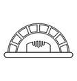 bread oven icon outline style vector image vector image