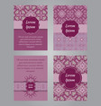 brochure design in vintage ornamental style vector image vector image