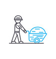 building materials thin line stroke icon vector image vector image