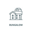 bungalow line icon bungalow outline sign vector image vector image