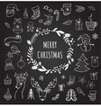 Christmas Design Elements - Doodle Xmas symbols vector image vector image