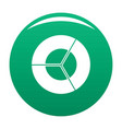 circle diagram icon green vector image vector image