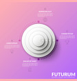 circular chart with four round elements placed one vector image vector image