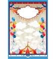 Circus frame vector image vector image