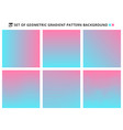 collection of abstract geometric gradients vector image vector image