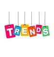 colorful hanging cardboard Tags - trends vector image